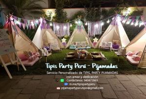 Servicios de Eventos Tipis, Pijamadas y talleres exclusivos también en NEON y mucho más.